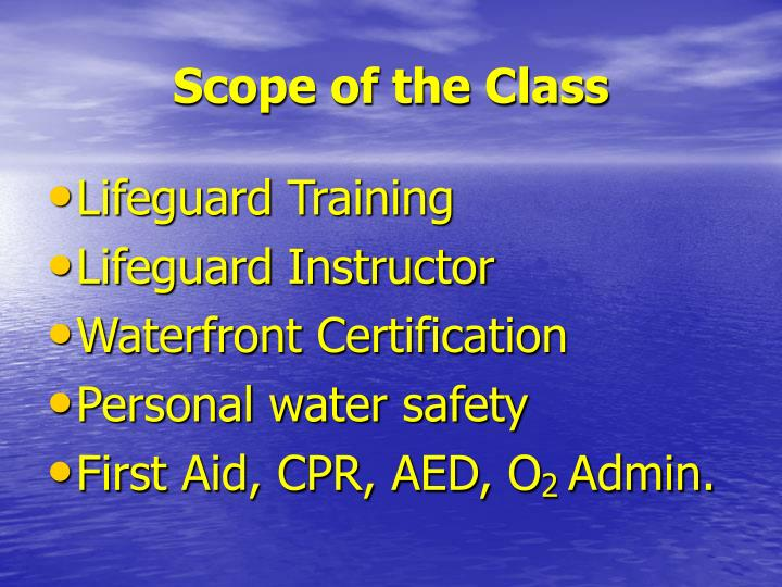 Scope of the class