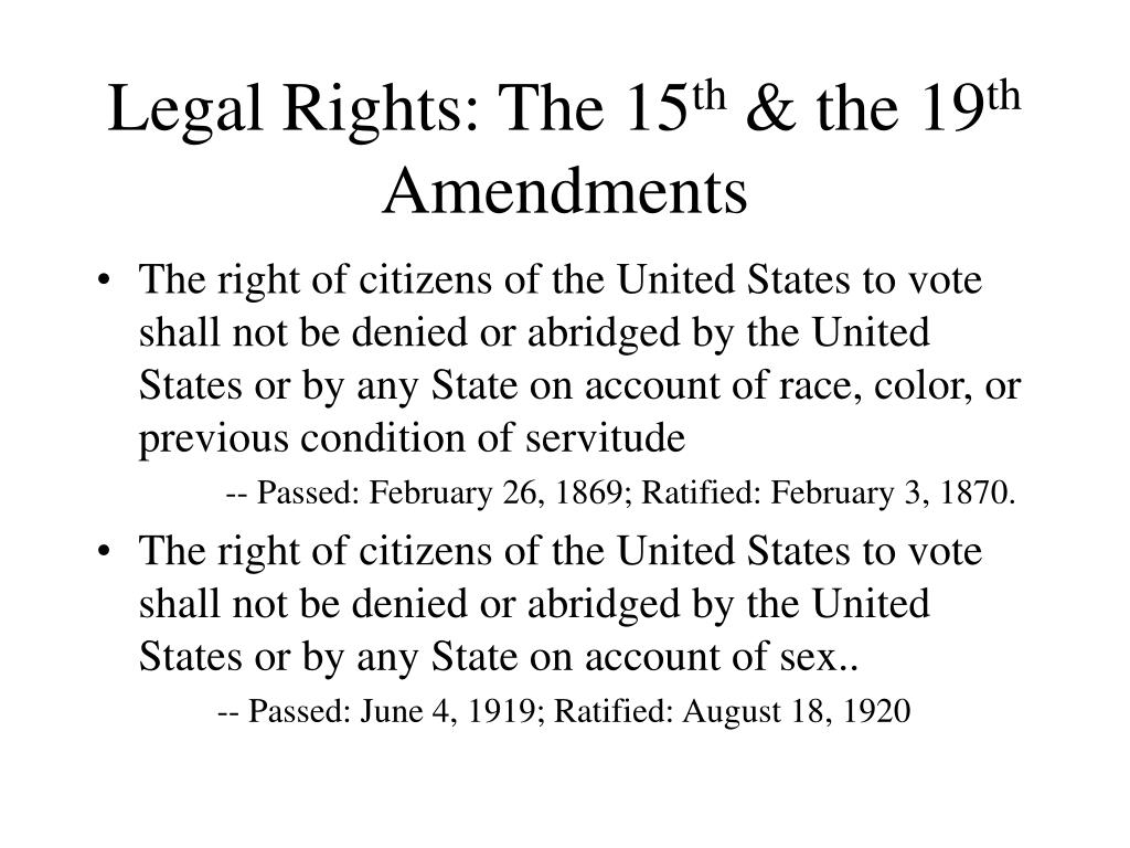 Legal Rights: The 15