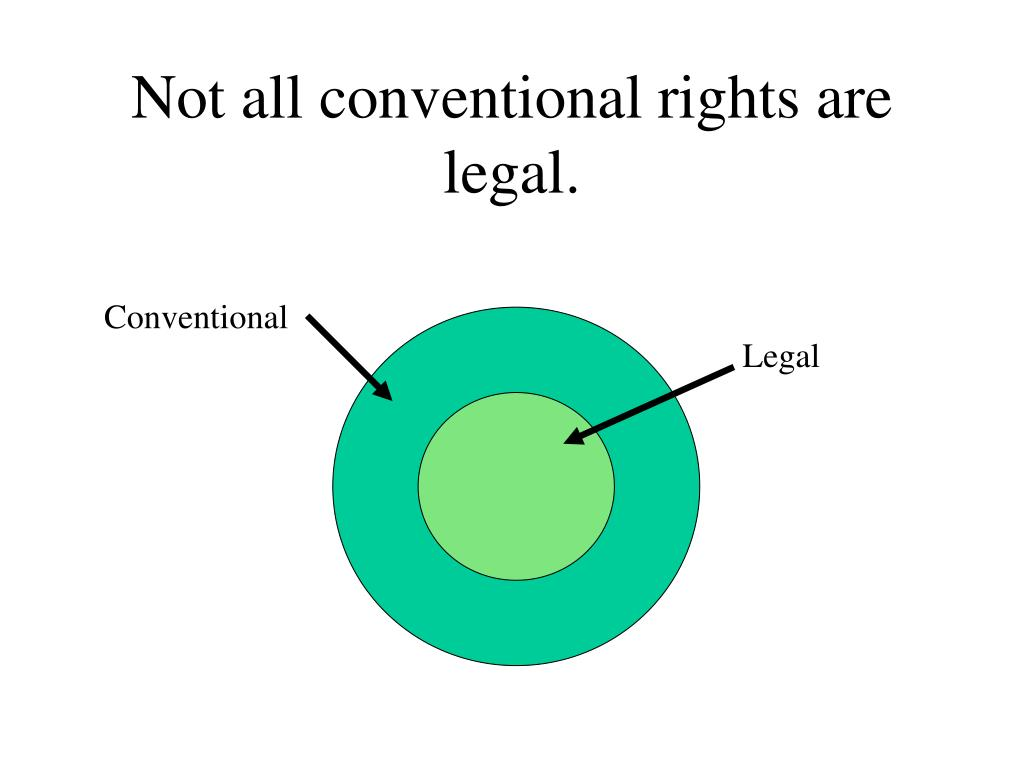 Not all conventional rights are legal.