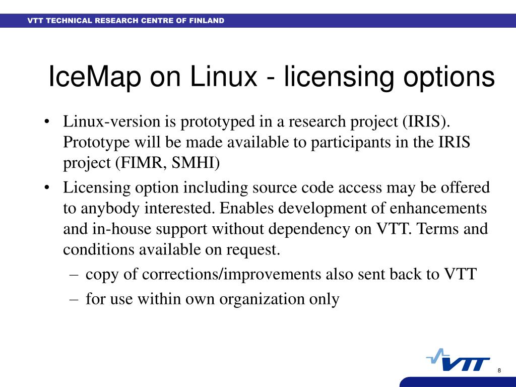 IceMap on Linux - licensing options
