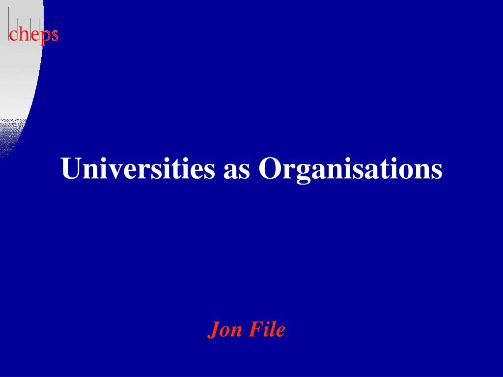 universities as organisations l.