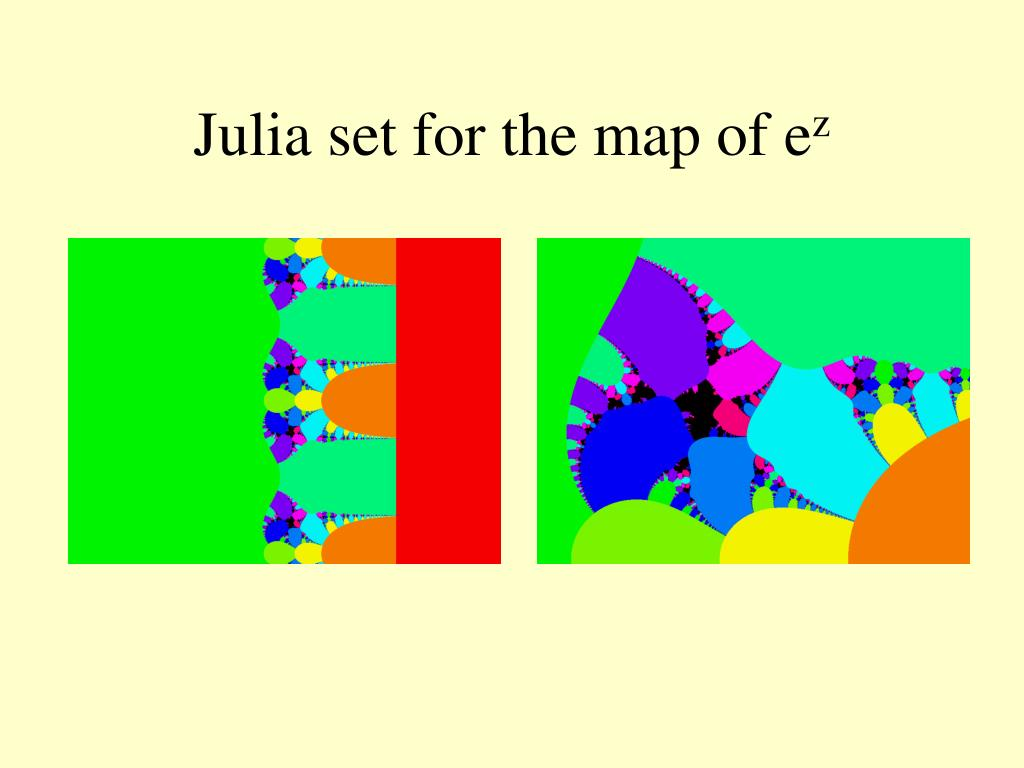 Julia set for the map of e