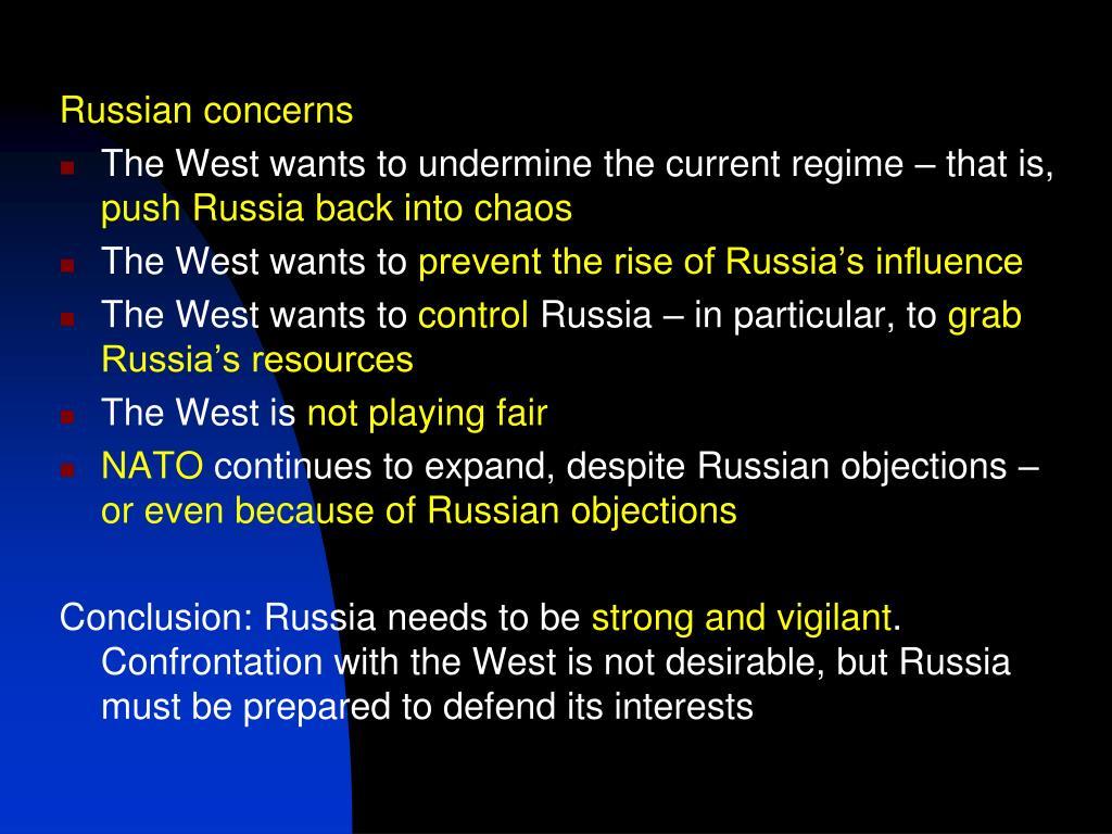 Russian concerns