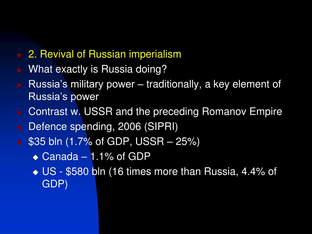 2. Revival of Russian imperialism