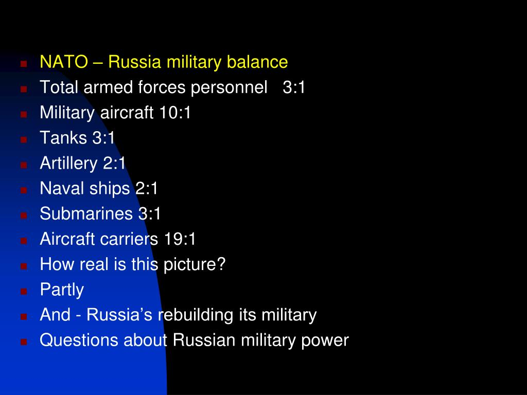 NATO – Russia military balance
