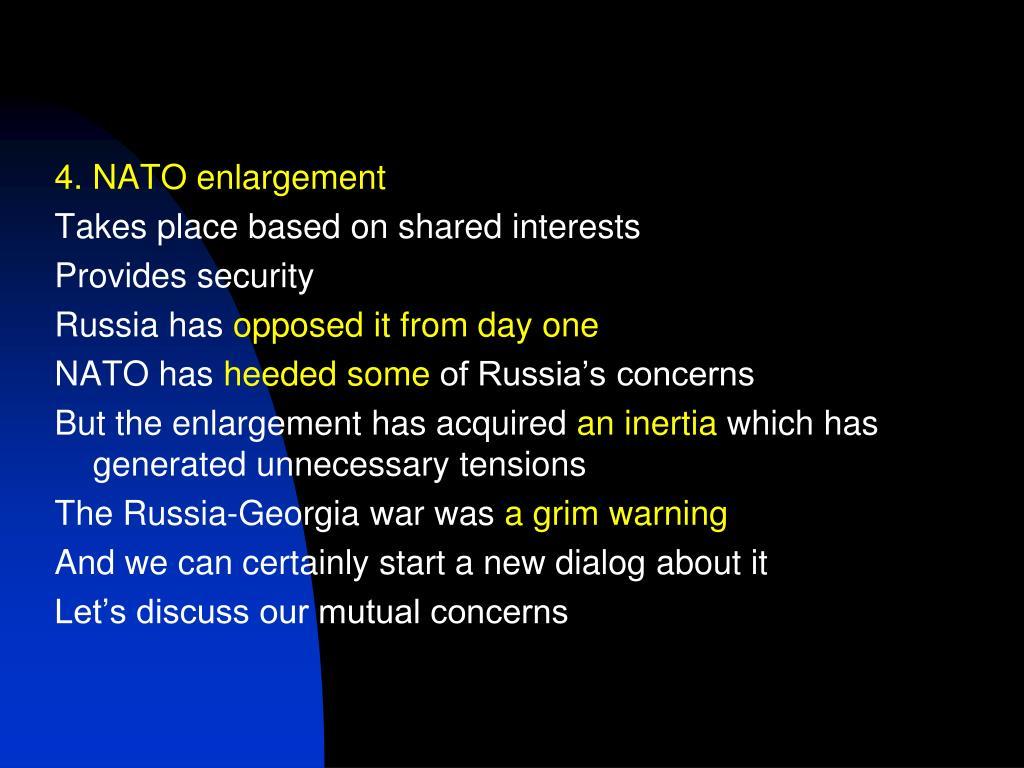 4. NATO enlargement