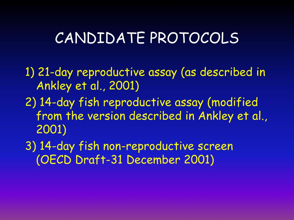 CANDIDATE PROTOCOLS