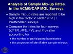 analysis of sample mix up rates in the acmg cap mgl surveys