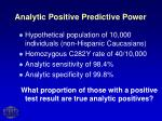 analytic positive predictive power
