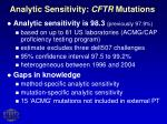 analytic sensitivity cftr mutations10