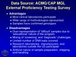 data source acmg cap mgl external proficiency testing survey