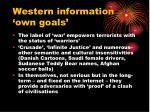 western information own goals