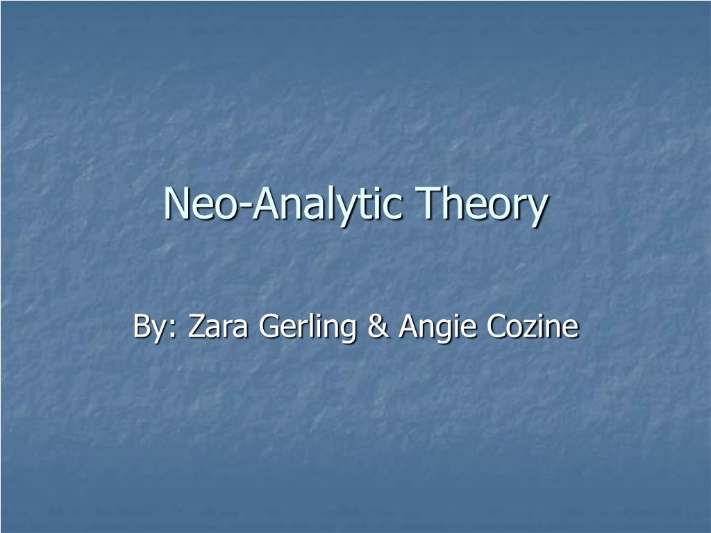 neo analytic theory l.