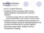 synthetic phonics www synthetic phonics com