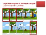 project managers business analysts disconnected disaster
