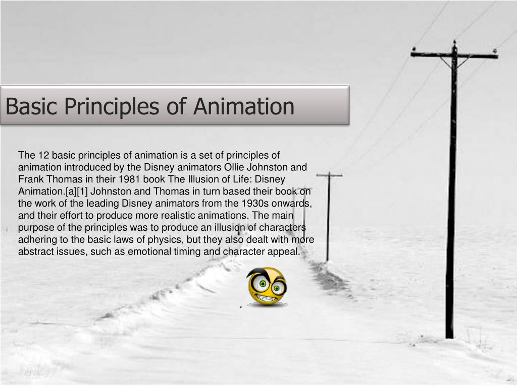 basic principles of animation l.