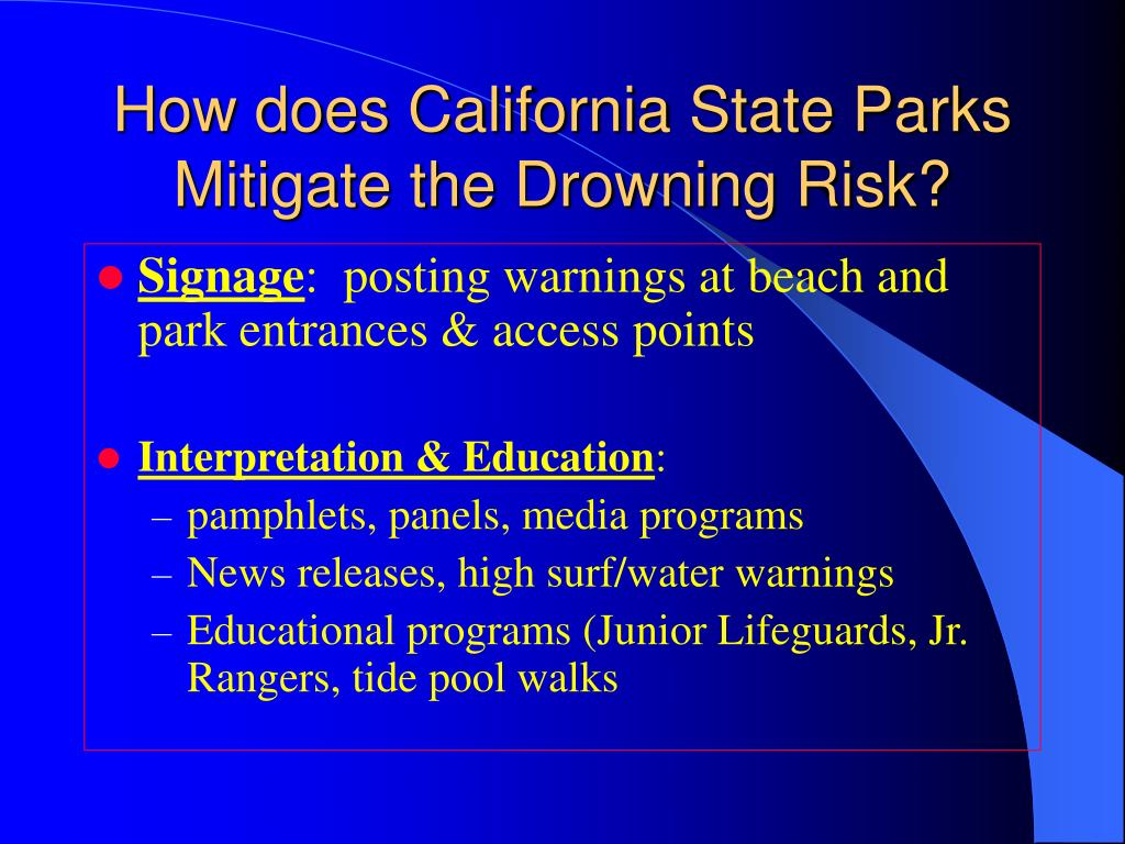 How does California State Parks Mitigate the Drowning Risk?