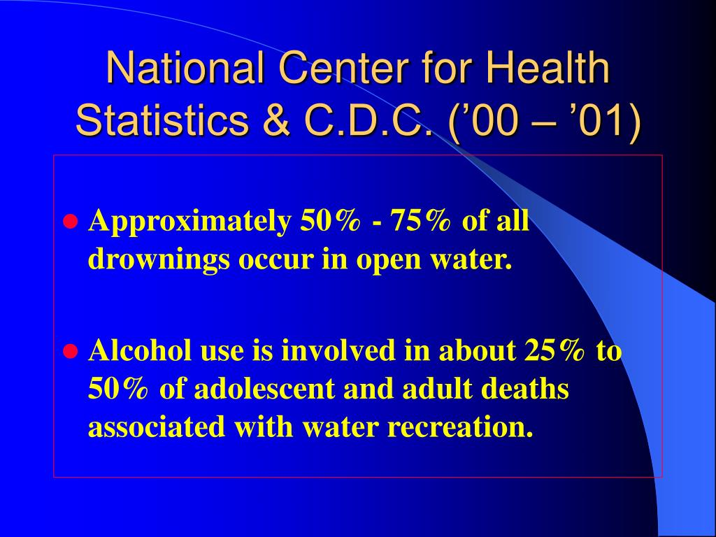 National Center for Health Statistics & C.D.C. ('00 – '01)