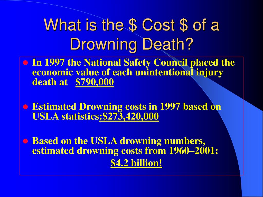 What is the $ Cost $ of a Drowning Death?