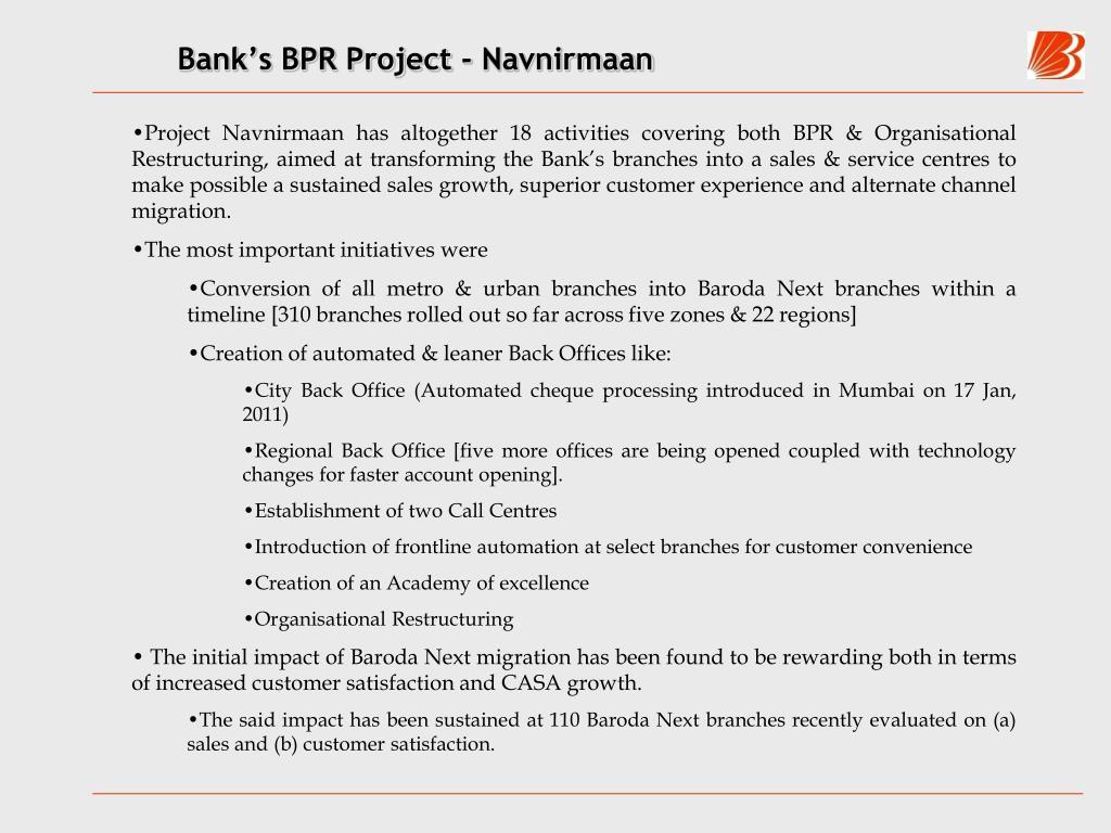 Bank's BPR Project - Navnirmaan