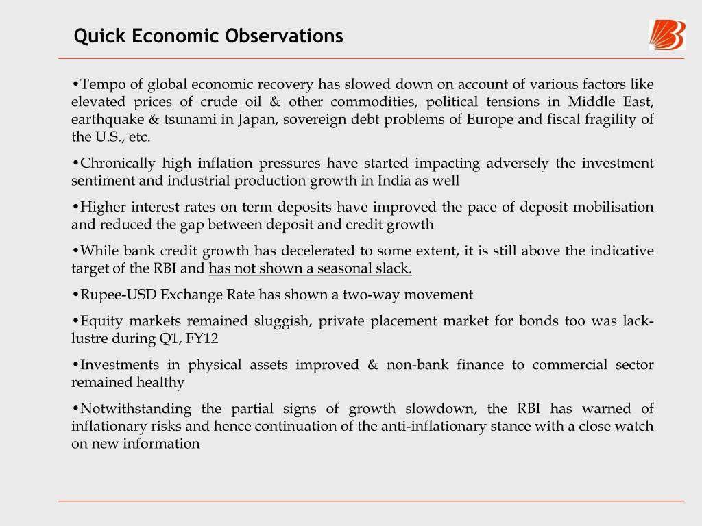 Quick Economic Observations