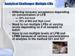 analytical challenges multiple lfbs