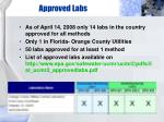 approved labs