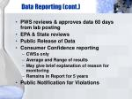 data reporting cont