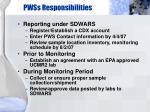 pwss responsibilities