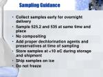 sampling guidance32