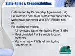 state roles responsibilities