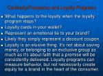 continuity frequency and loyalty programs