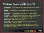 windows resource kit cont d
