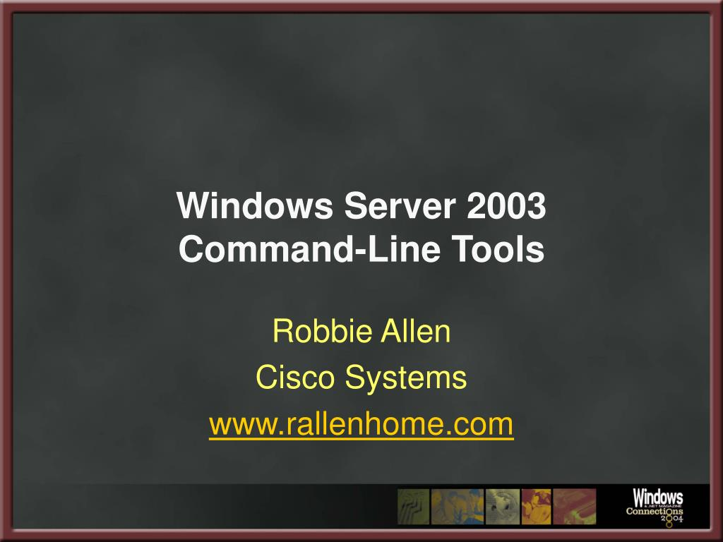 windows server 2003 command line tools l.