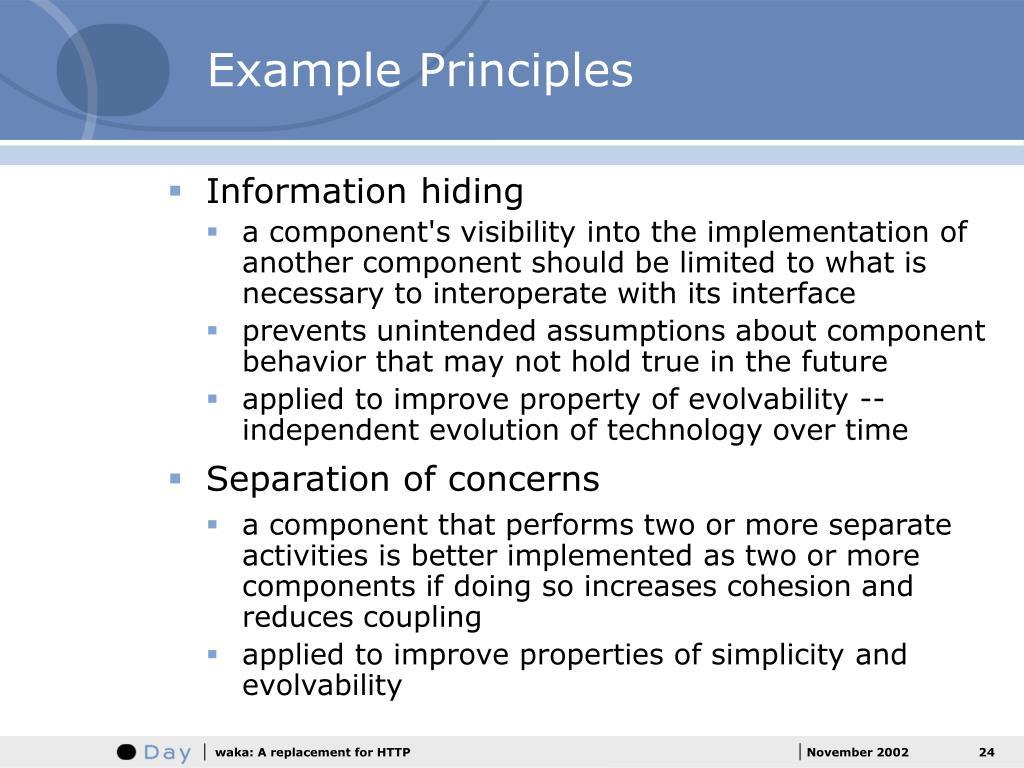 Example Principles