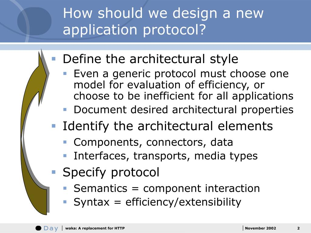 How should we design a new application protocol?
