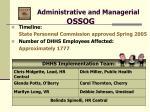 administrative and managerial ossog