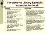 competency library example attention to detail18