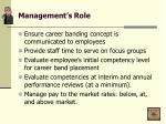 management s role