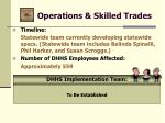 operations skilled trades