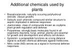 additional chemicals used by plants