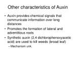 other characteristics of auxin