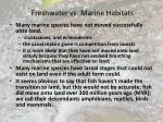 freshwater vs marine habitats14