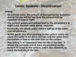 lentic systems stratification43