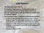 lotic systems53