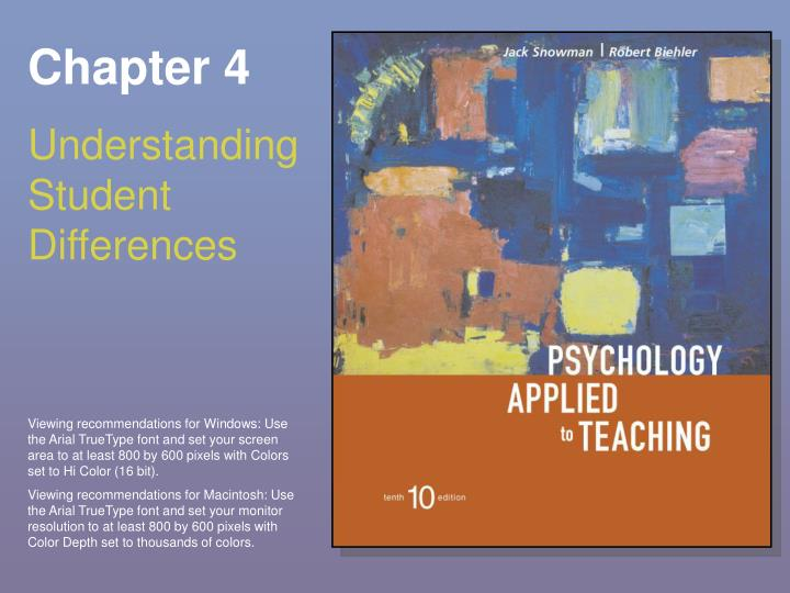 Chapter 4 understanding student differences