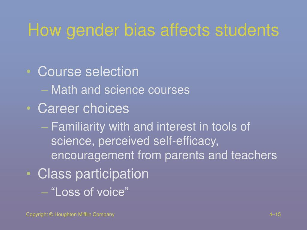 How gender bias affects students