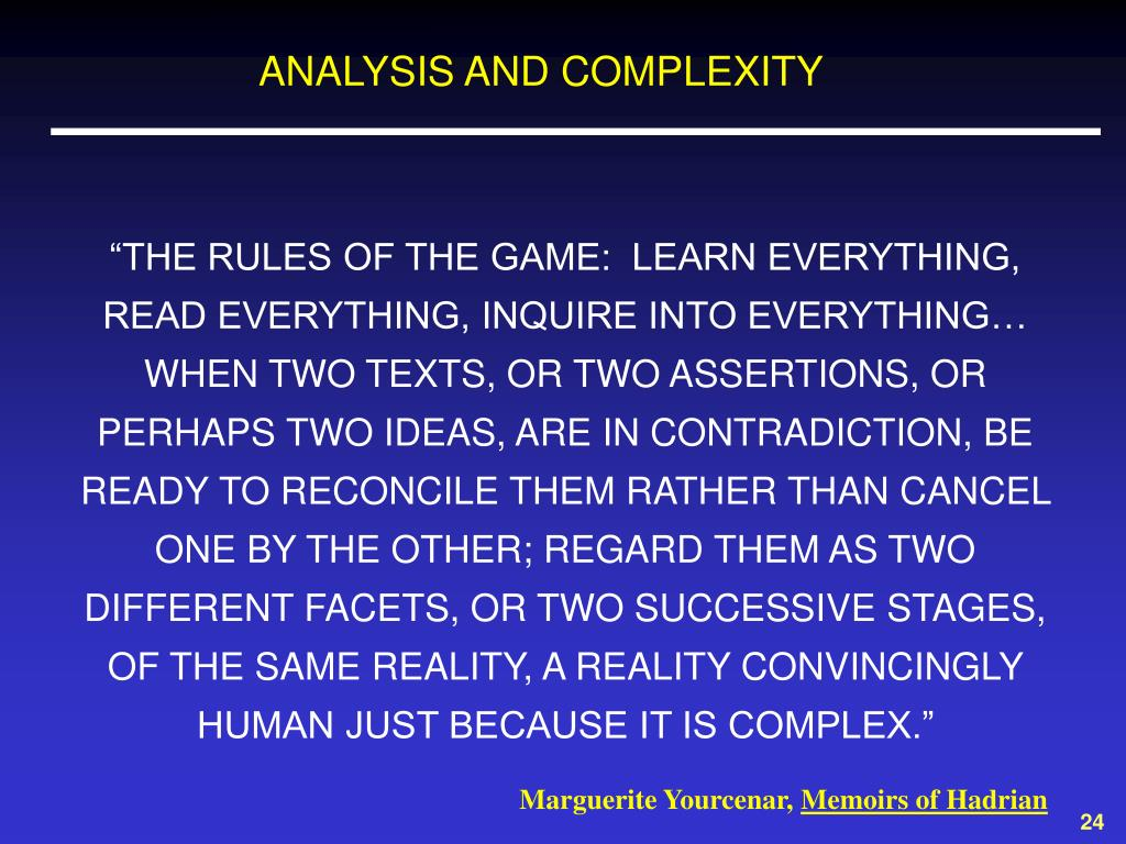 ANALYSIS AND COMPLEXITY