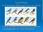 case study a disturbing message from the birds