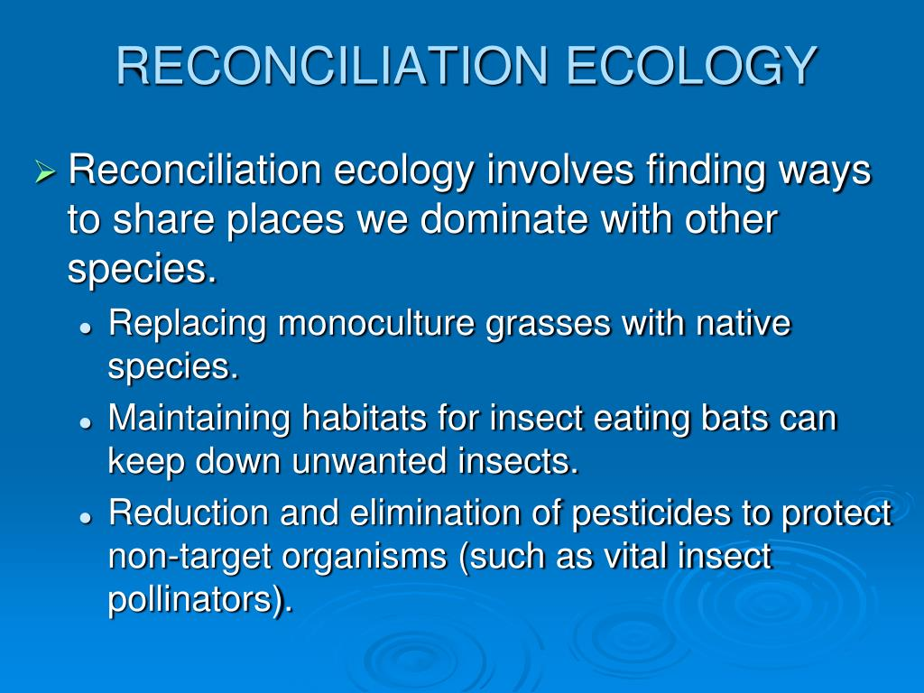 RECONCILIATION ECOLOGY